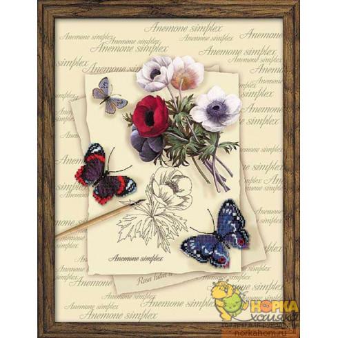Бабочки и анемоны
