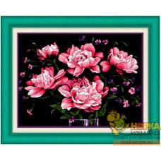 Роскошные розы на черном