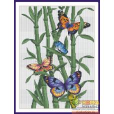 Бабочки и бамбук