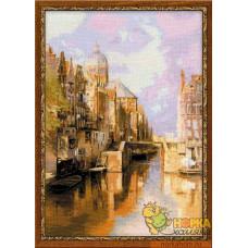 Амстердам. Канал Аудезейтс Форбургвал
