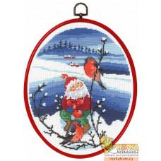 Санта со снегирями