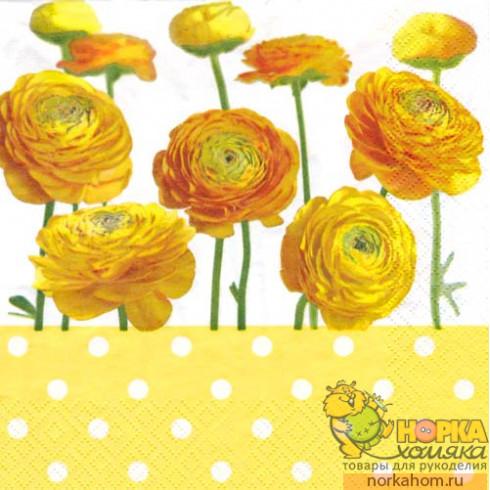 "Салфетка для декупажа ""Желтые цветы"""