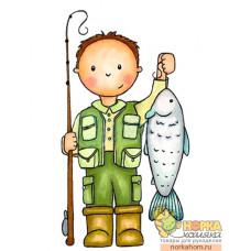 """Штампик """"Gone Fishing"""""""