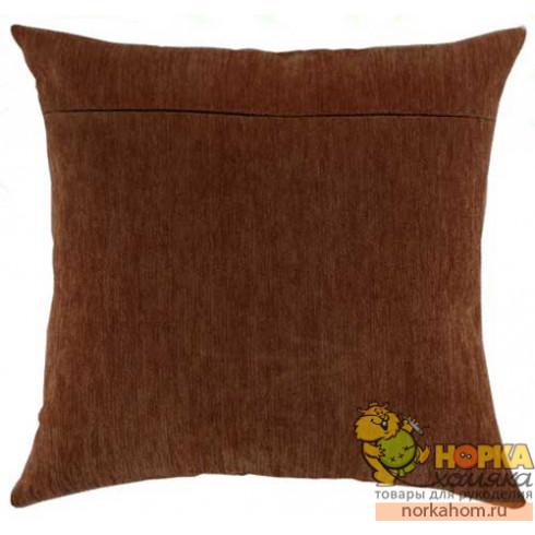 Оборот для подушки (коричневый велюр)