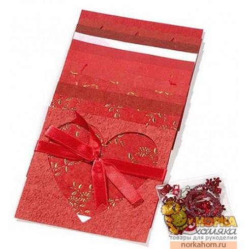"""Набор бумаги для открыток """"Красный"""""""
