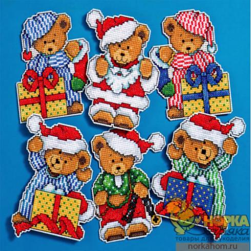 """Набор игрушек """"Рождественские мишки"""""""