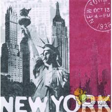 "Салфетка для декупажа ""Нью-Йорк"""