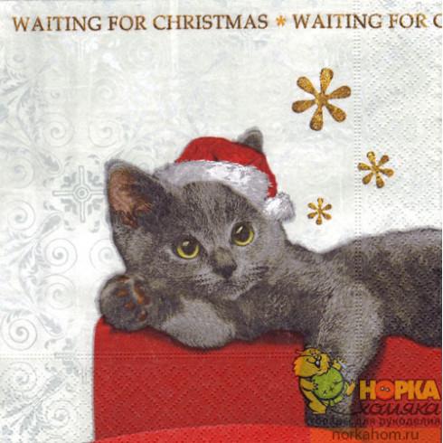 """Салфетка для декупажа """"В ожидании Рождества"""""""