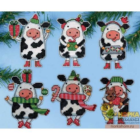 """Набор игрушек """"Новогодние коровки"""""""