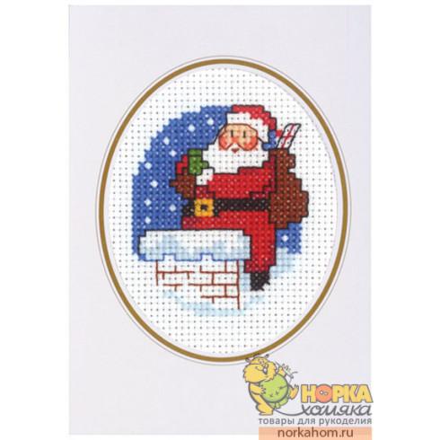 """Открытка """"Санта с подарками"""""""