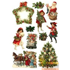 """Пленка для декупажа """"Рождество II"""" (для светлых поверхностей)"""