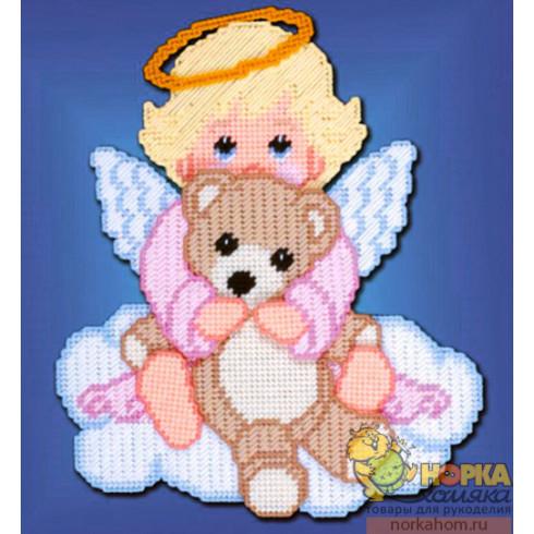"""Украшение для детской комнаты """"Ангел с мишкой"""""""