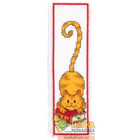 Red Cat Bookmark