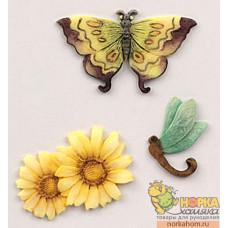 """Элементы для декорирования """"Бабочки и подсолнухи"""""""