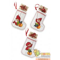 """Рождественские носки """"Эльфы"""""""