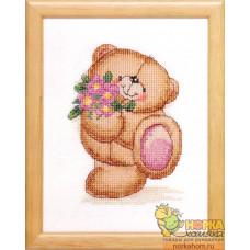Медвежонок с букетом