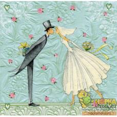 "Салфетка для декупажа ""Жених и невеста"""