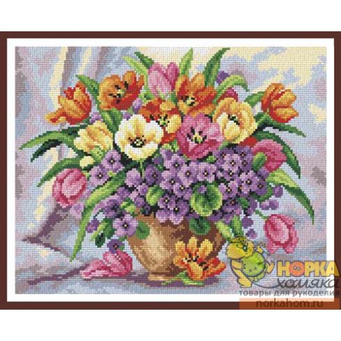 Тюльпаны и фиалки