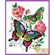 Бабочки и розы
