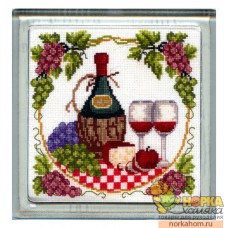 """Набор для вышивания подставки """"Вино"""""""