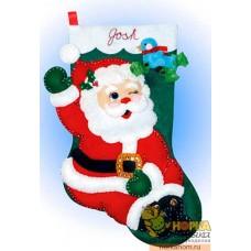 """Рождественский сапожок """"Подмигивающий Санта"""""""