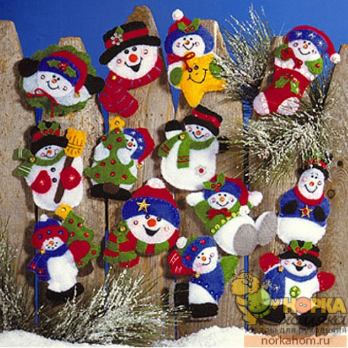 "Рождественские игрушки ""Снеговики"""