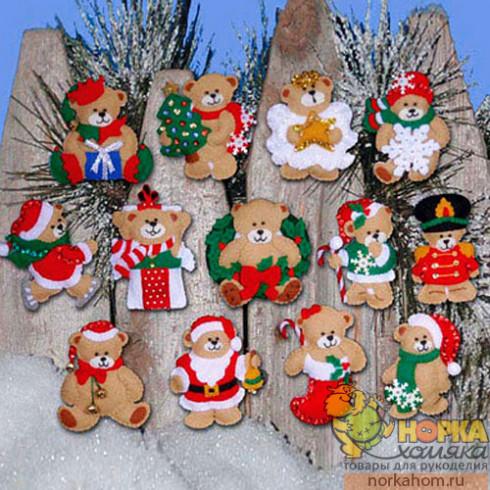 """Рождественские игрушки """"Мишки"""""""