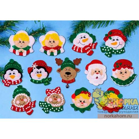 """Рождественские игрушки """"Радостные лица"""""""