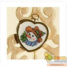 Снеговик (в рамке-сердечке)