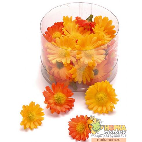 """Декоративные цветы """"Желтые и оранжевые маргаритки"""""""