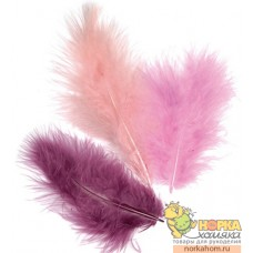 Перья марабу (оттенки фиолетового)