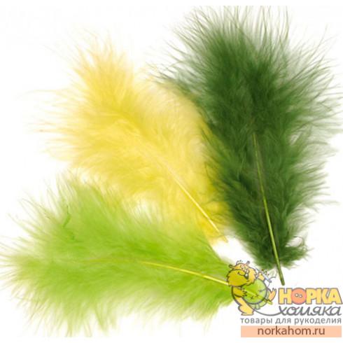 Перья марабу (оттенки зеленого)