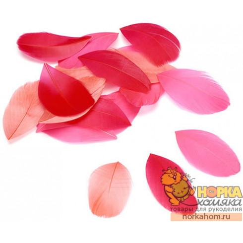 Перья декоративные (оттенки розового)