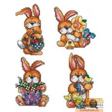 Пасхальные кролики III (на пластиковой канве)