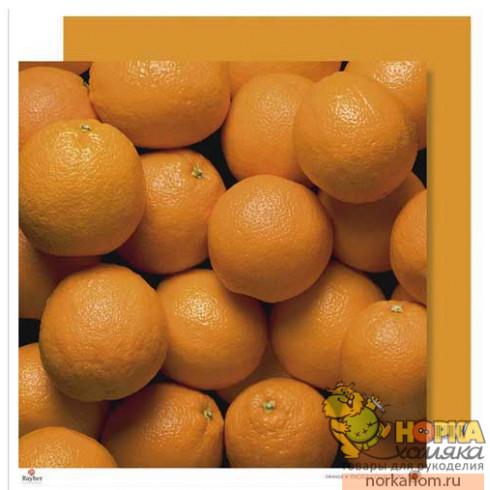 "Бумага для скрапбукинга ""Апельсин"""