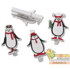 """Набор декоративных прищепок """"Пингвины"""""""