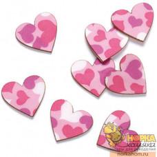 Декоративные сердечки из кожи