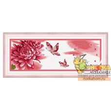 """Часы """"Хризантемы и бабочки"""""""