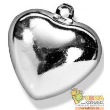 "Колокольчики для декорирования ""Серебряное сердце"""