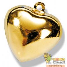 """Колокольчики для декорирования """"Золотое сердце"""""""
