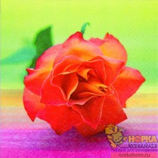 "Салфетка для декупажа ""Оранжевая роза"""