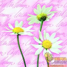 """Салфетка для декупажа """"Цветы на цветах. Розовый"""""""