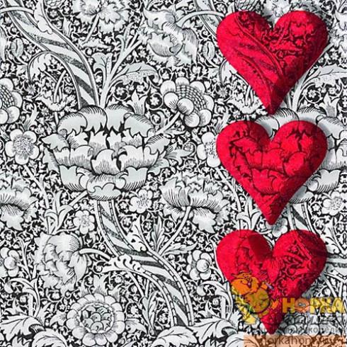 "Салфетка для декупажа ""Сердечки-валентинки"""