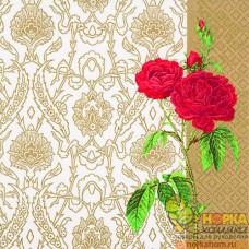 """Салфетка для декупажа """"Викторианский узор и роза"""""""