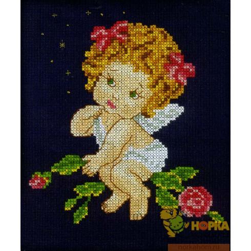 Ангел с розами