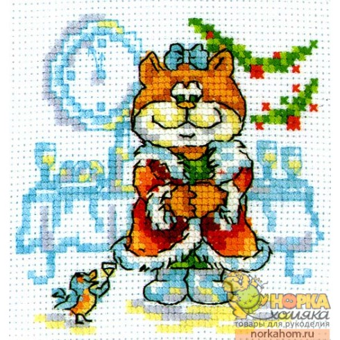 Кошка Снегурочка