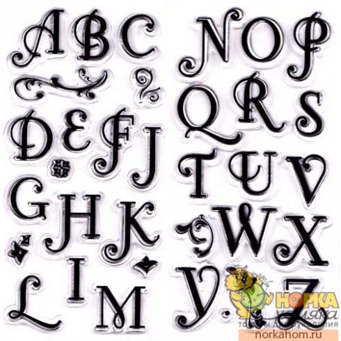 """Набор прозрачных штампов """"Coffee House Alphabet"""""""