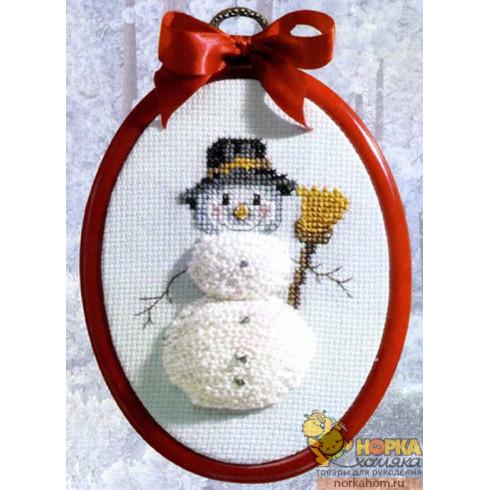 Снеговик (с рамкой)