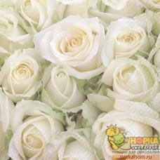 """Салфетка для декупажа """"Белые розы"""""""