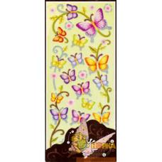 """Объемные наклейки """"Бабочки и листики"""""""